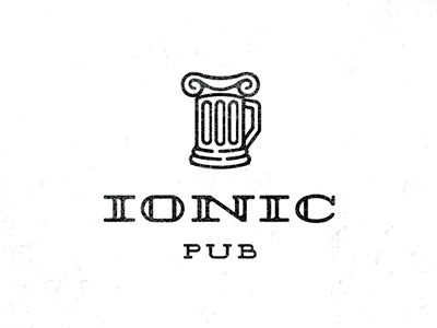 Ionic pub beer bar greece mug column