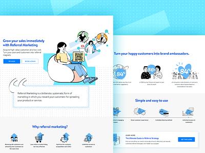 Referral Marketing referral doodles marketing vector promotions website illustration landing page design ui hochiminh hcm