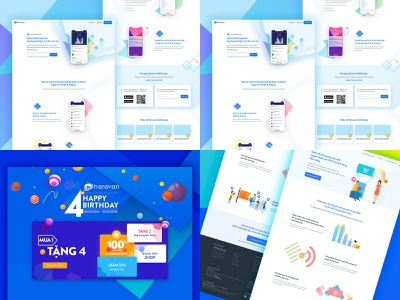 2018 mobile app app event landing promotions page website illustration design hochiminh hcm web landing page ui