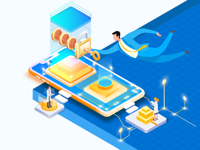 illustrations for topic: Personalized interactions isometric illustration isometric humanity key interaction personalized topic vector page illustration design hcm hochiminh