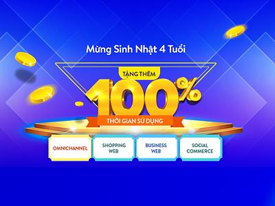 Happy 4th birthday event landing promotions website ui web landing page design hochiminh hcm