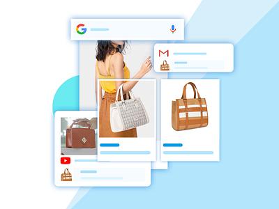 """illustration for """"google smart shopping"""" landing page shopping smart google ui web design landing promotions website page landing page design hcm hochiminh image"""