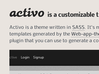 Activo Opening Page