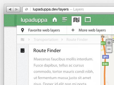 Lupaduppa — top left web app ui interface