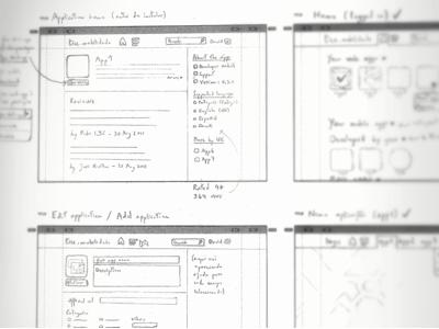 Lupaduppa — wireframes sketch wireframe