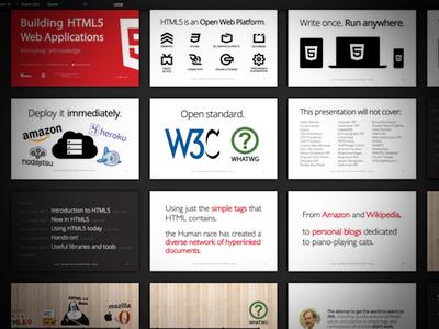HTML5 @jeKnowledge slideshow slides presentation show html5
