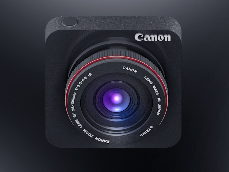 Canon Icon Design icon ios app design iphone apple canon camera dslr 3d cinema 4d