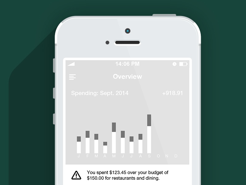 Financial Wireframe financial banking credit money mobile ui ux interactive design ios apple android flat