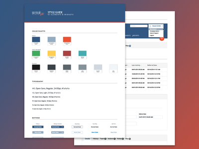 UI Styleguide web web design states forms list button typography color palette styleguide