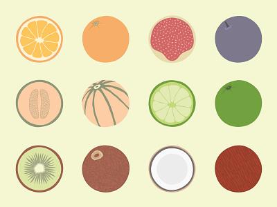Fruit flat flat design juice artwork illustration fruit