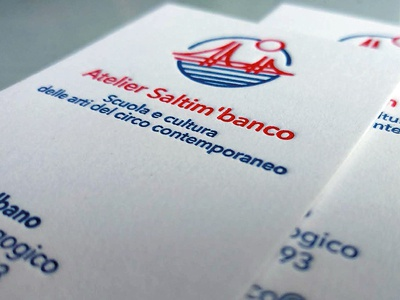Atelier Saltim'banco circus juggling business card letterpress logo design logo