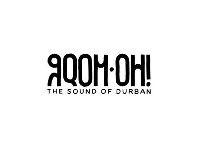 Gqom Oh! south africa durban zulu gqom music label music type logo design logo