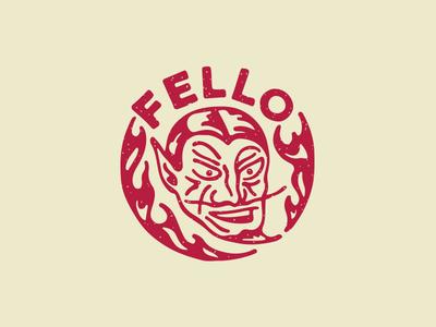 Fello Bistrot logo logo design restaurant type devil charachter flame fire bistrot