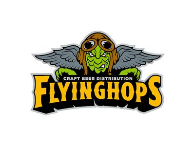Flyinghops type nfl nba design logo hop craft beer