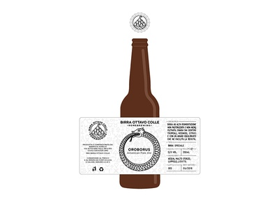 Oroborus - Birra Ottavo Colle beer label brew brewing snake uroboro ouroborus oroboro craft beer beer label