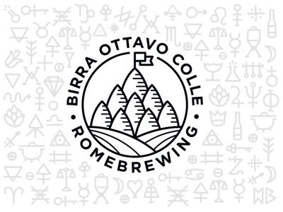 Birra Ottavo Colle logo design logo