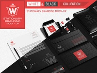 Stationary Branding Moc Up White   Black Collection