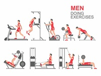 Men doing exercises