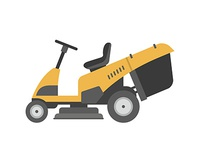 Yellow lawnmower