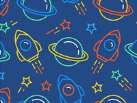 Seamless pattern with space