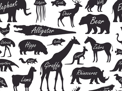 Pattern with Animal