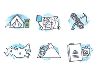 Icons for alpinists
