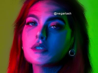 My lady 03 procreate paint lady face portrait woman illustrator illustration painting digitalpainting