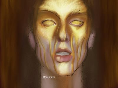 Honey man digital illustration digital painting procreateapp procreate app honey man faces portrait illustrator illustration procreate brushes procreate art procreate