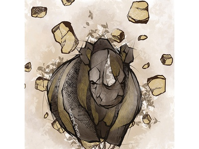 rhino illustration portrait illustration portrait art animal digital arts digital painting animal character animal art rhino illustrator illustration