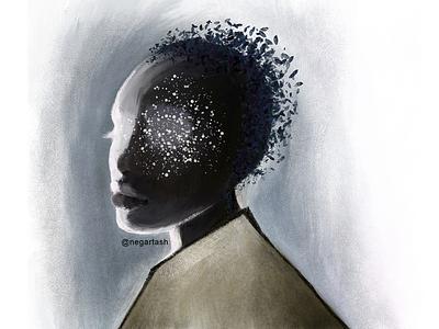 Black lady procreateart digital painting digitalart portrait woman lady procreate brush illustration illustrator procreate art procreateapp procreate