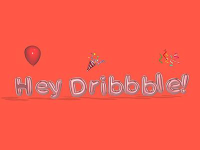 Hey Dribbble! bubble letters balloon letters umake