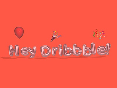 Hey Dribbble! bubble letters balloon letters umake