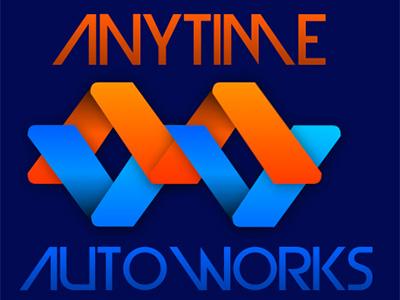 Anytime AutoWorks Logo (Draft) logo design automotive