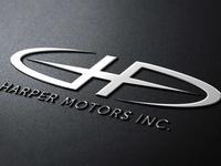 Harper Motors Inc. Logo Mockup
