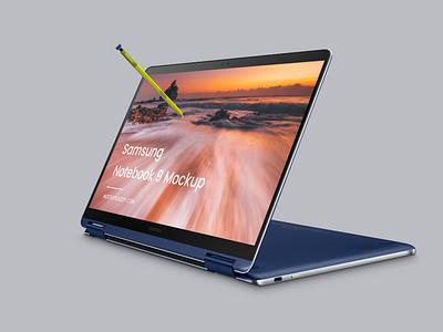 Laptop Mockup (Samsung Notebook 9) devices mockup samsung laptop samsung