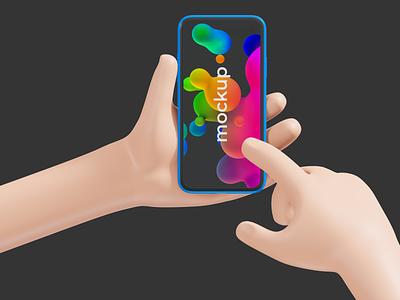 Smartphone Mockup stylized hand mockup