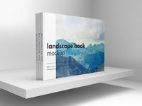 Landscape book mockup scene