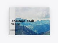 Landscape book mockup top