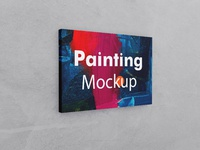 Painting canvas 36x48 landscape mockup 04