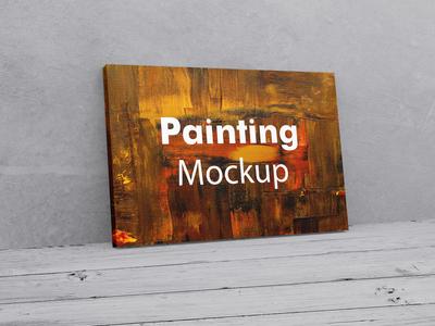 Painting Canvas Mockup