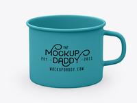 Enamel mug mockup free