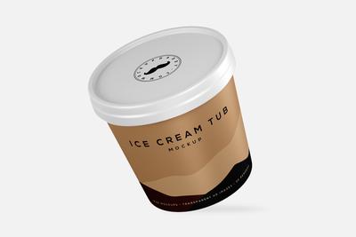 Mini Ice Cream Tub Mockup