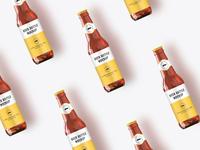 Beer bottle mock up tileable