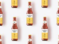 Beer bottle mock up scean
