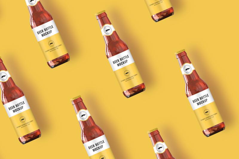 Beer Bottle Mockup logo packaging mockup psd premium packaging psd mockup label premium best packaging label design design box packaging branding mockup packaging design packaging brand beermockup beer bottle beer beer bottle mockup