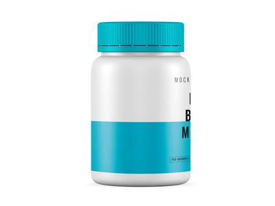 Pills Bottle 360 Label Mockup