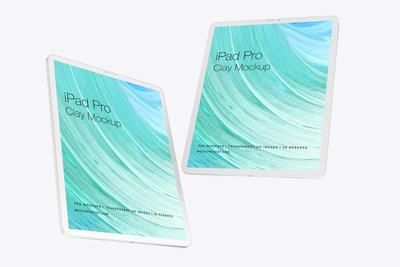 iPad Pro 2019 Clay Mockup