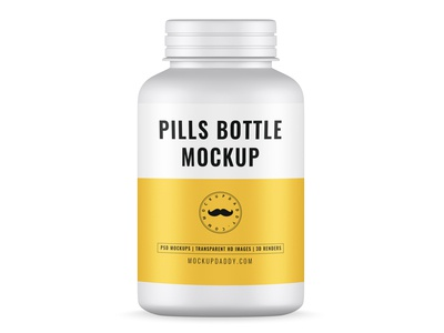 Pills Bottle Mock-Up