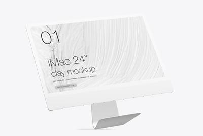 iMac Clay Mockup