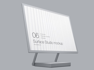 Microsoft Surface Studio Clay Mockup